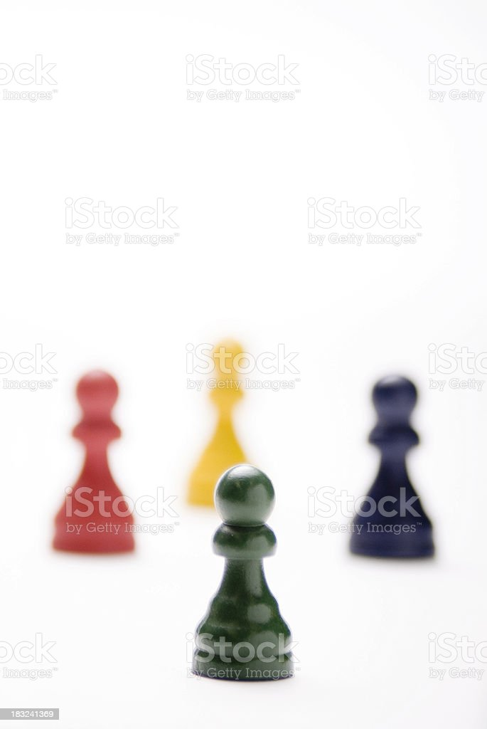 Pawns as Business Men royalty-free stock photo