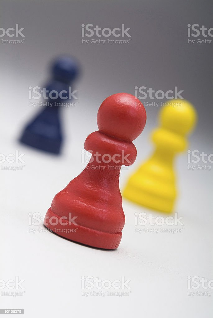 Pawns as Business Men Series royalty-free stock photo