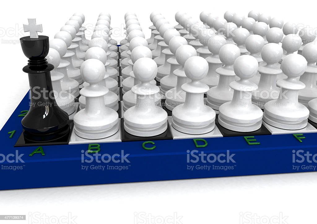 Pawns attack stock photo