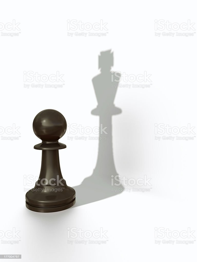 Pawns shadow royalty-free stock photo