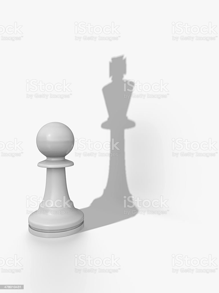Pawns shadow stock photo
