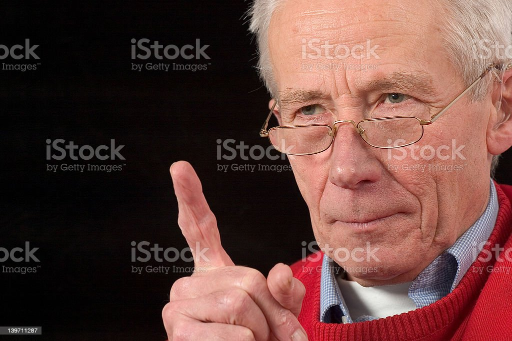 Pay attention or else... royalty-free stock photo
