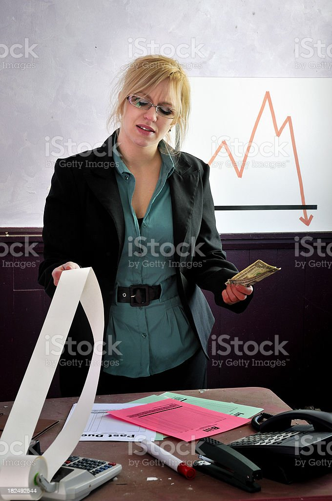 Pay Bills or Keep Money Conundrum stock photo