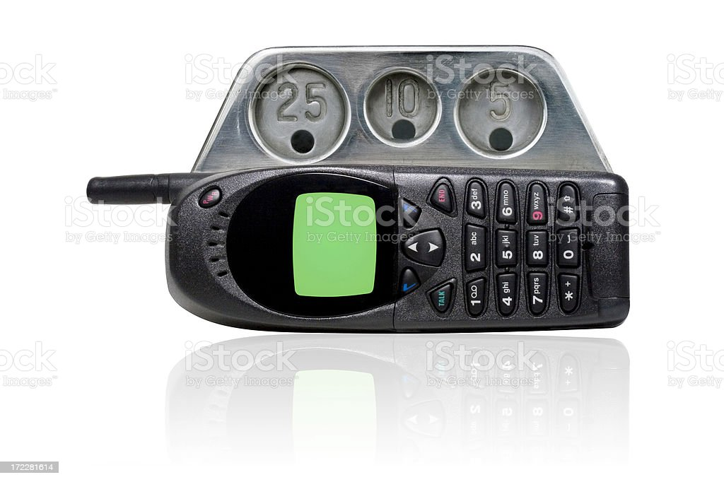 Pay Cell Phone royalty-free stock photo