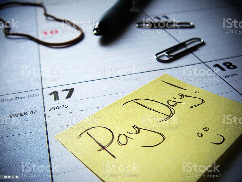 pay day soon stock photo