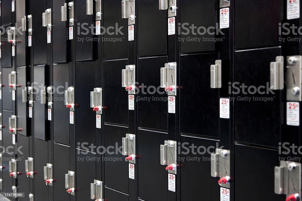 Pay Lockers royalty-free stock photo