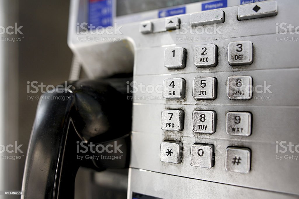 Pay phone buttons. royalty-free stock photo