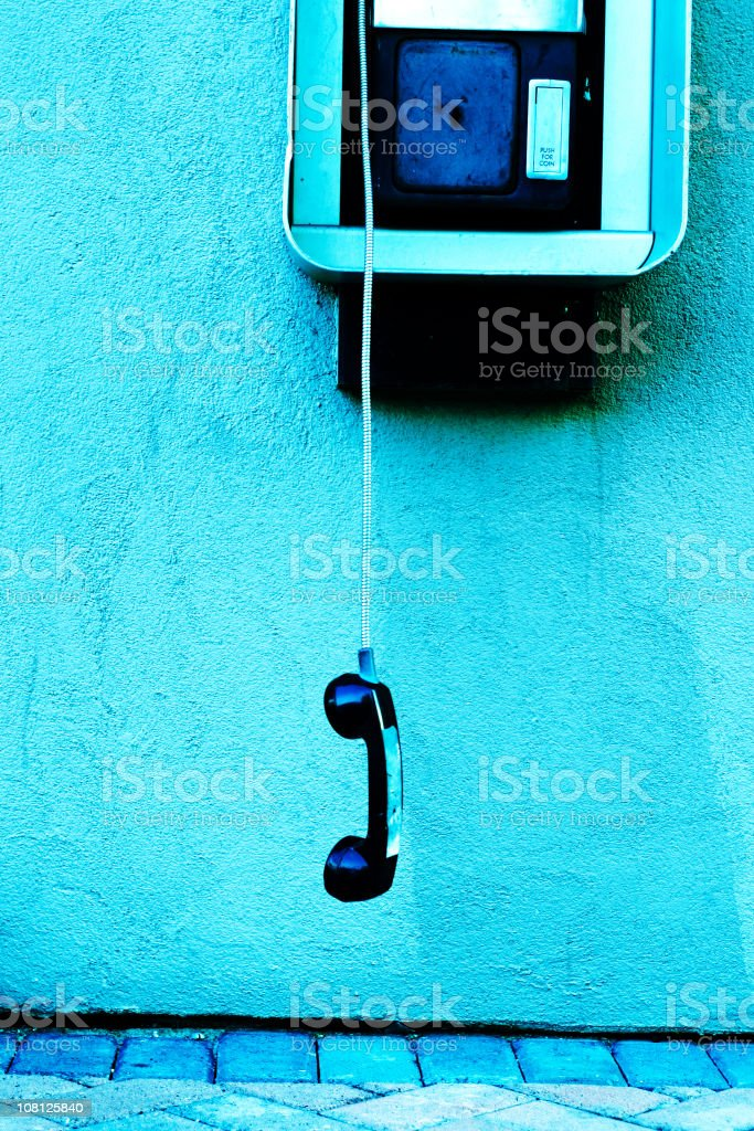 Pay Phone: Cross Processed stock photo