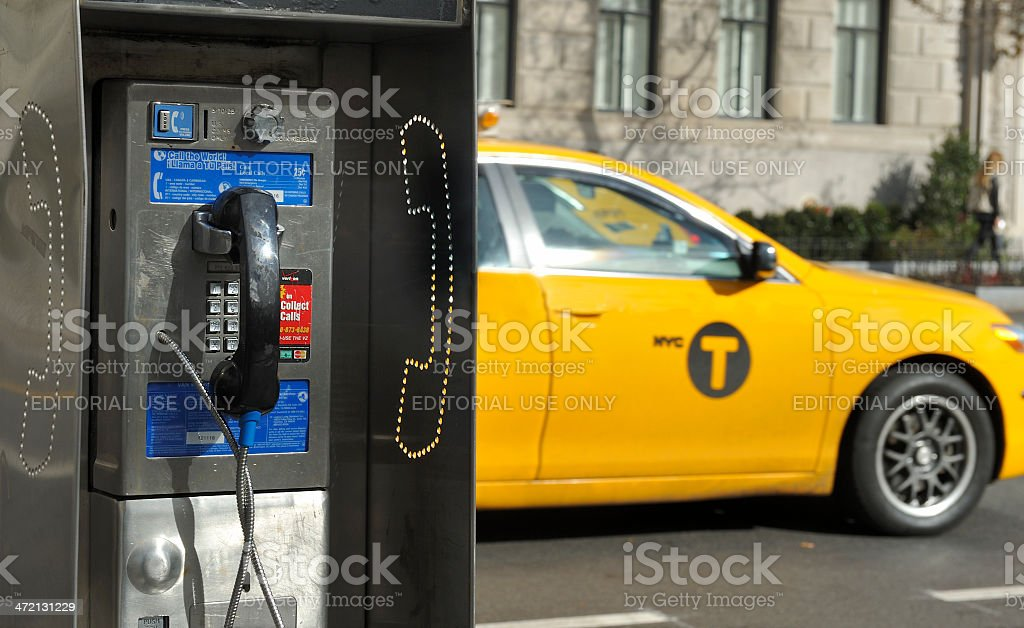 Pay phone in New York stock photo