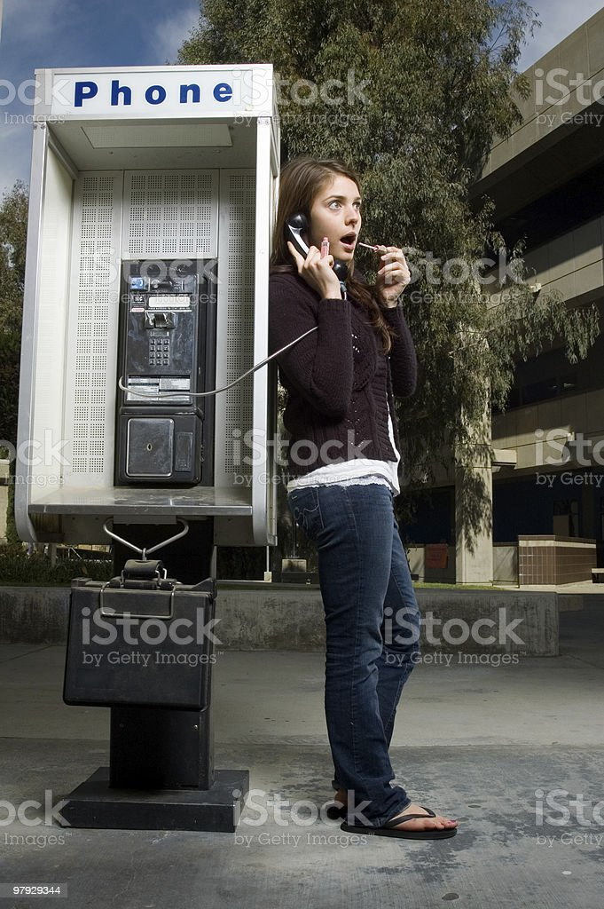 Pay Phone Portrait royalty-free stock photo