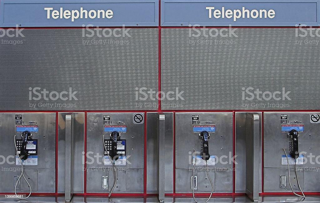 pay phones stock photo