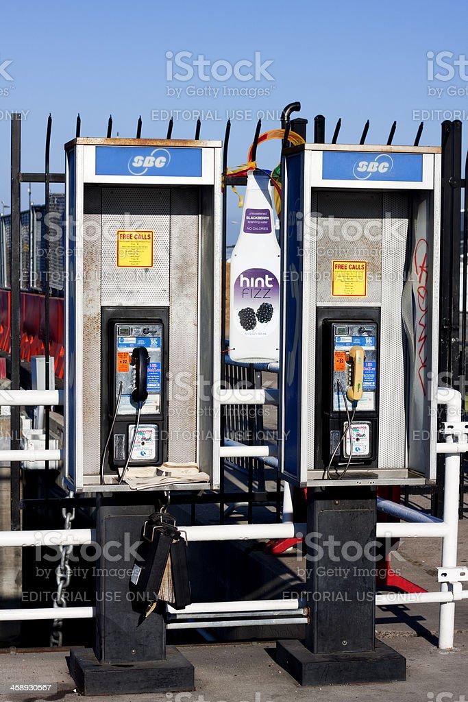 SBC Pay Phones royalty-free stock photo
