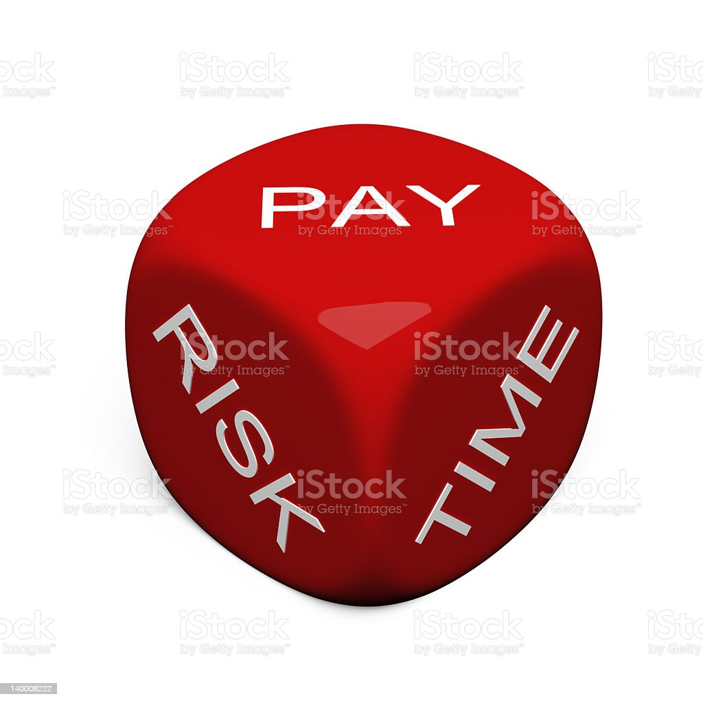 Pay, Risk, Time royalty-free stock photo