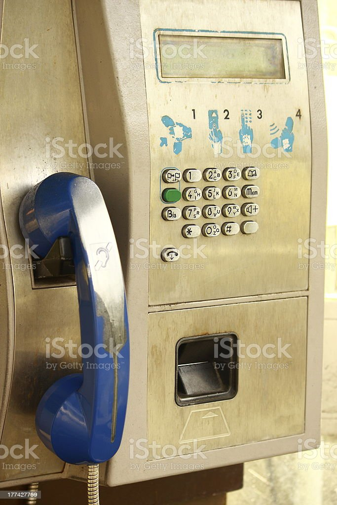 Pay station royalty-free stock photo