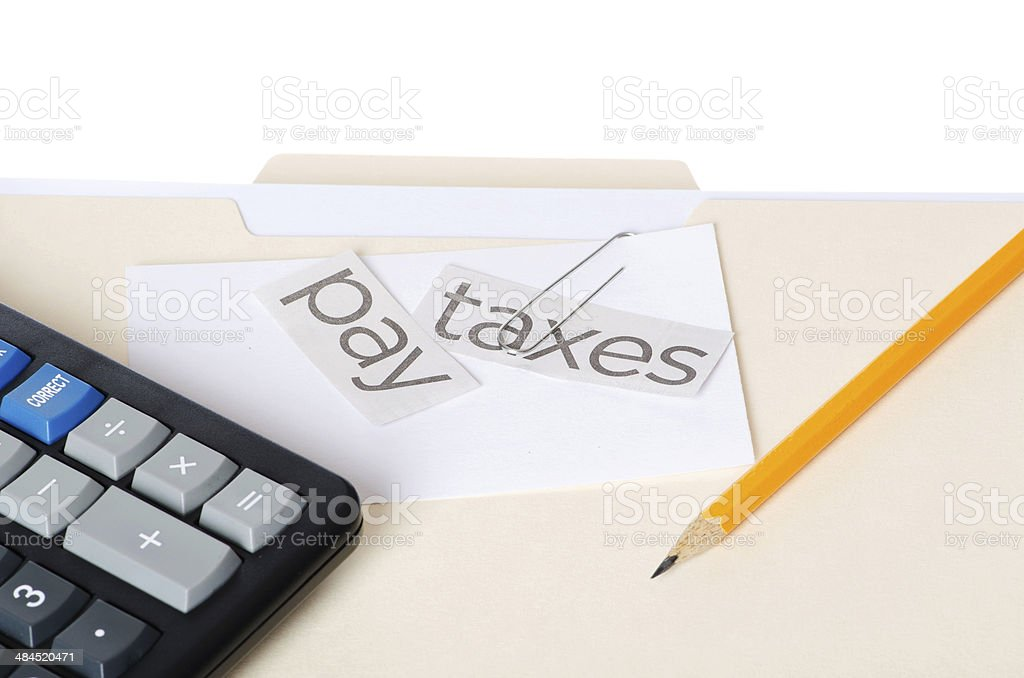 Pay Taxes Message royalty-free stock photo
