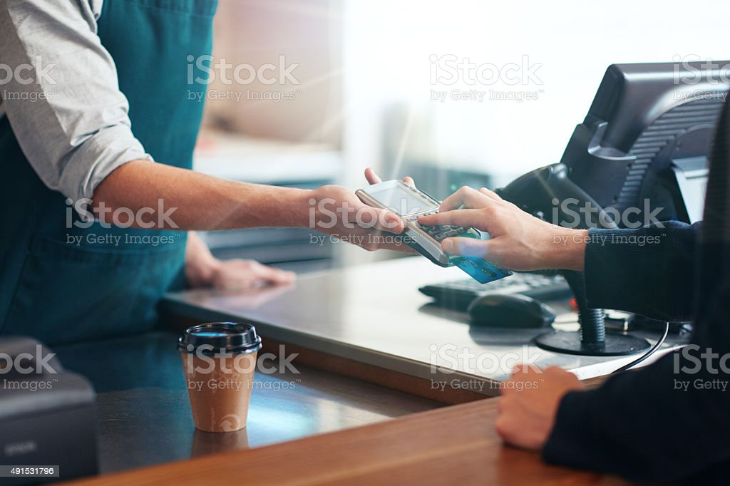 Pay the easy way stock photo