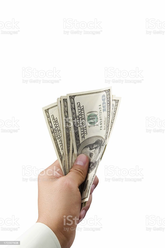 Pay Up royalty-free stock photo