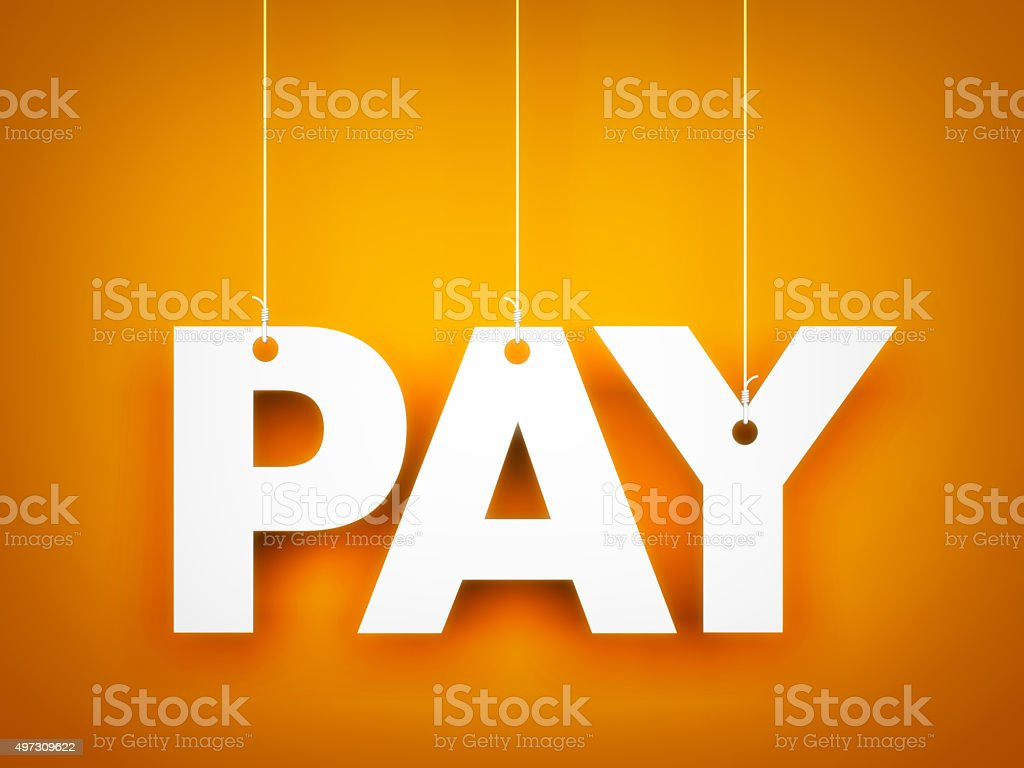 Pay word stock photo