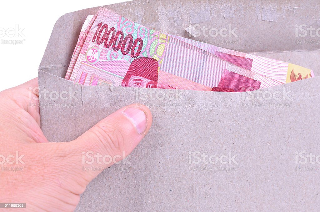 Payday in Indonesia stock photo