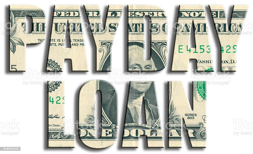 Payday loan. US Dollar texture. stock photo