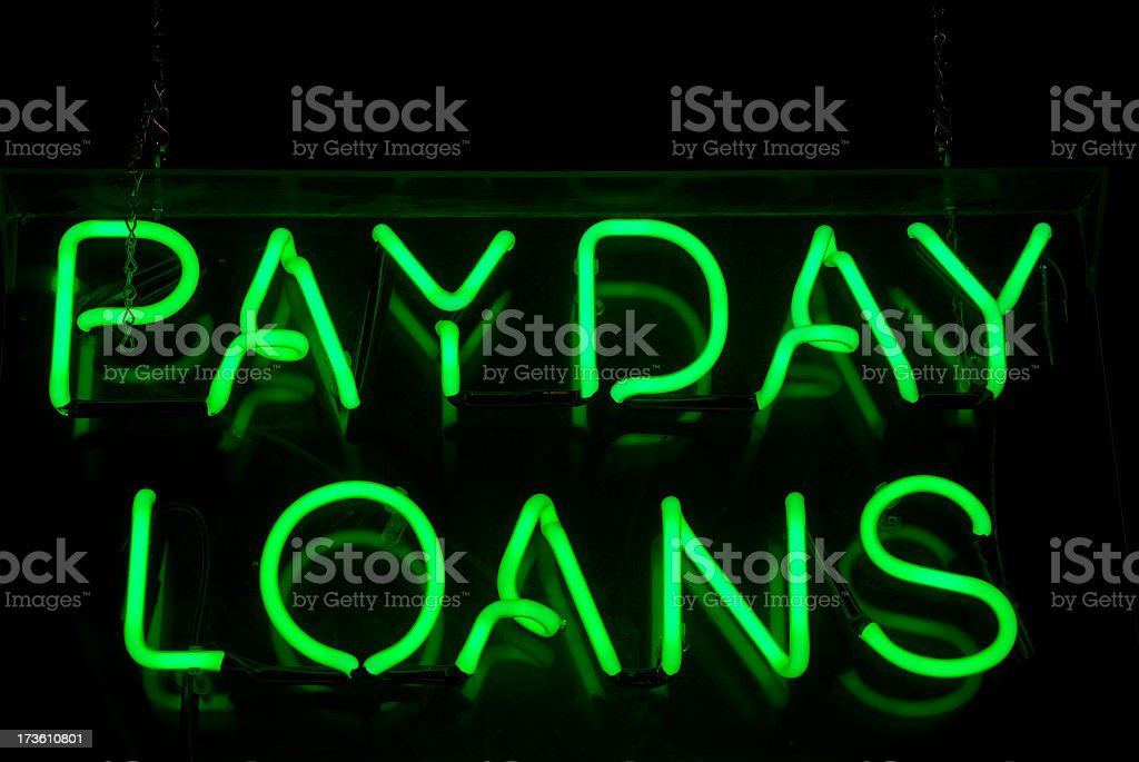Payday Loans Neon Sign stock photo