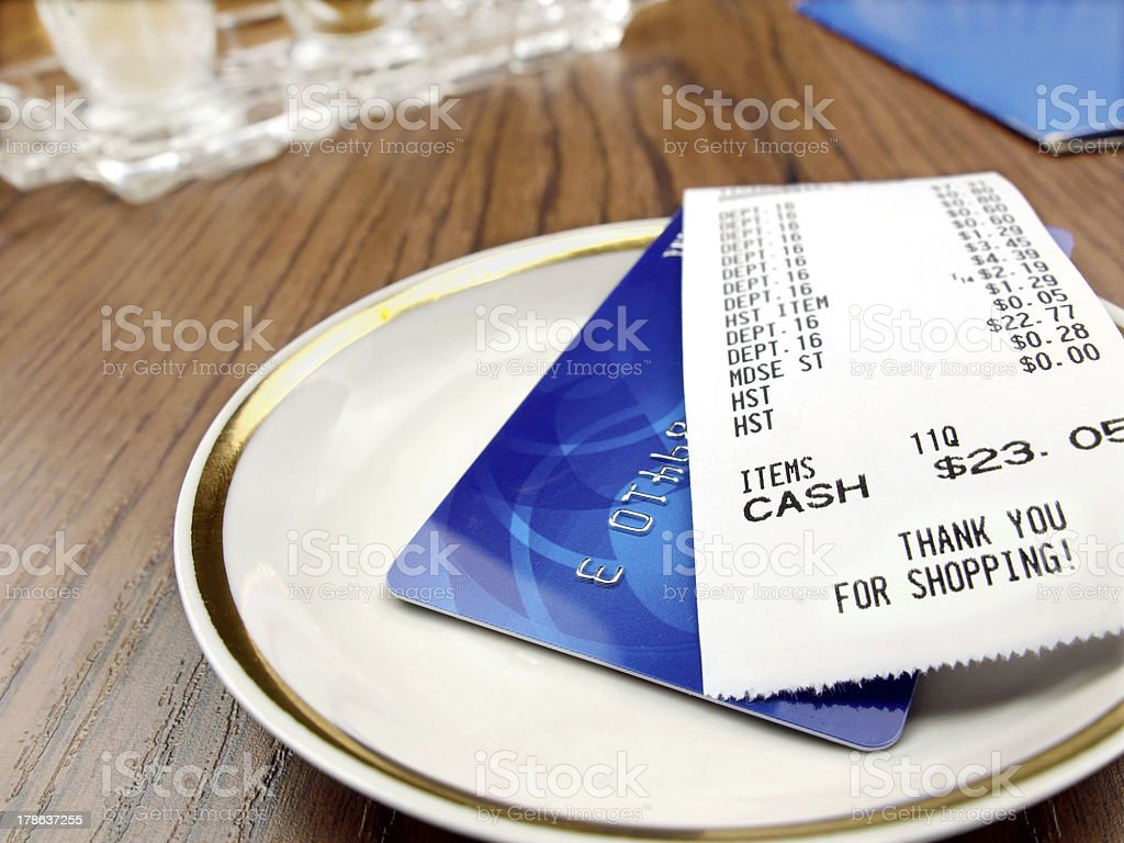 Paying Bill royalty-free stock photo