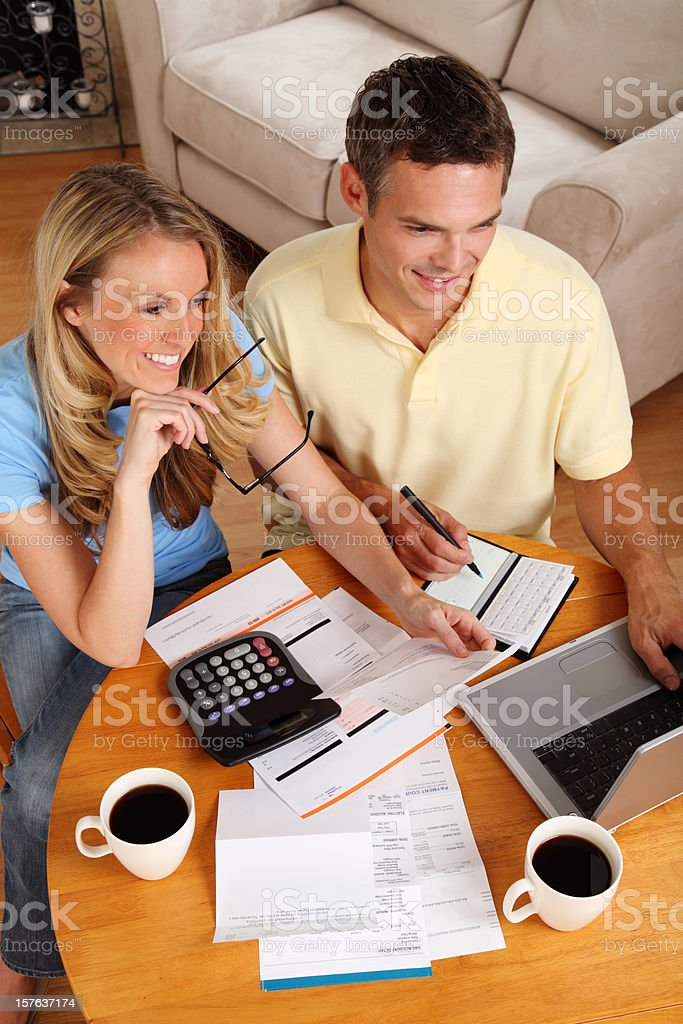 Paying Bills Online royalty-free stock photo