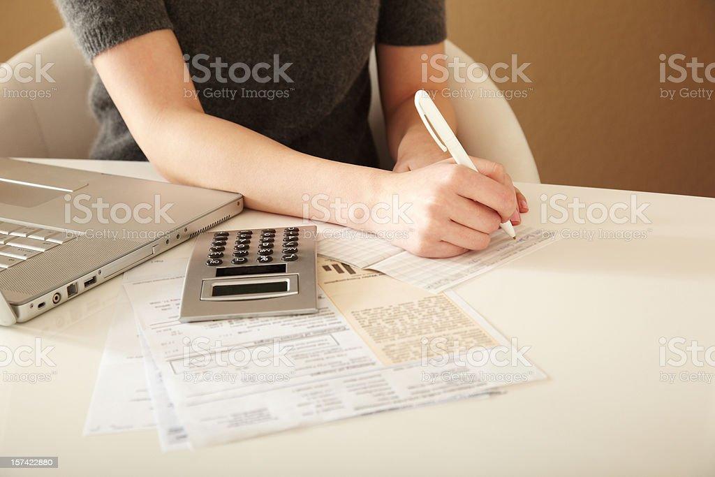 Paying Bills stock photo