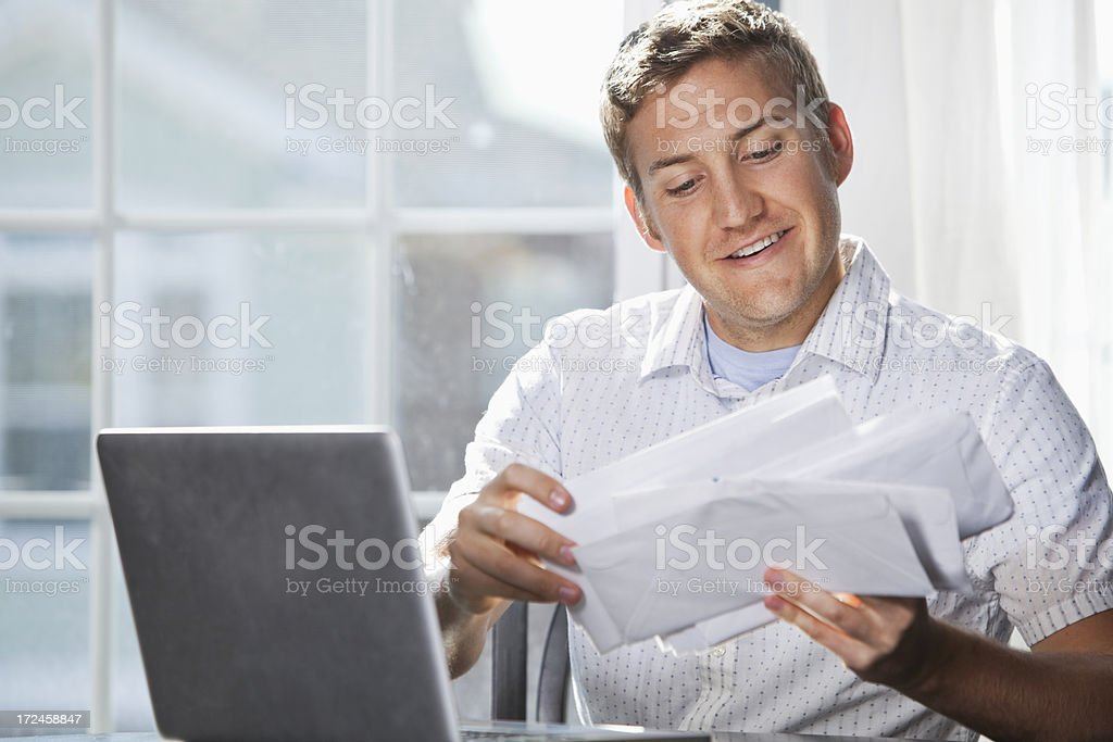 Paying bills stock photo
