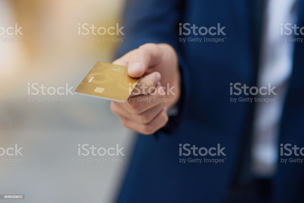 Paying by card stock photo