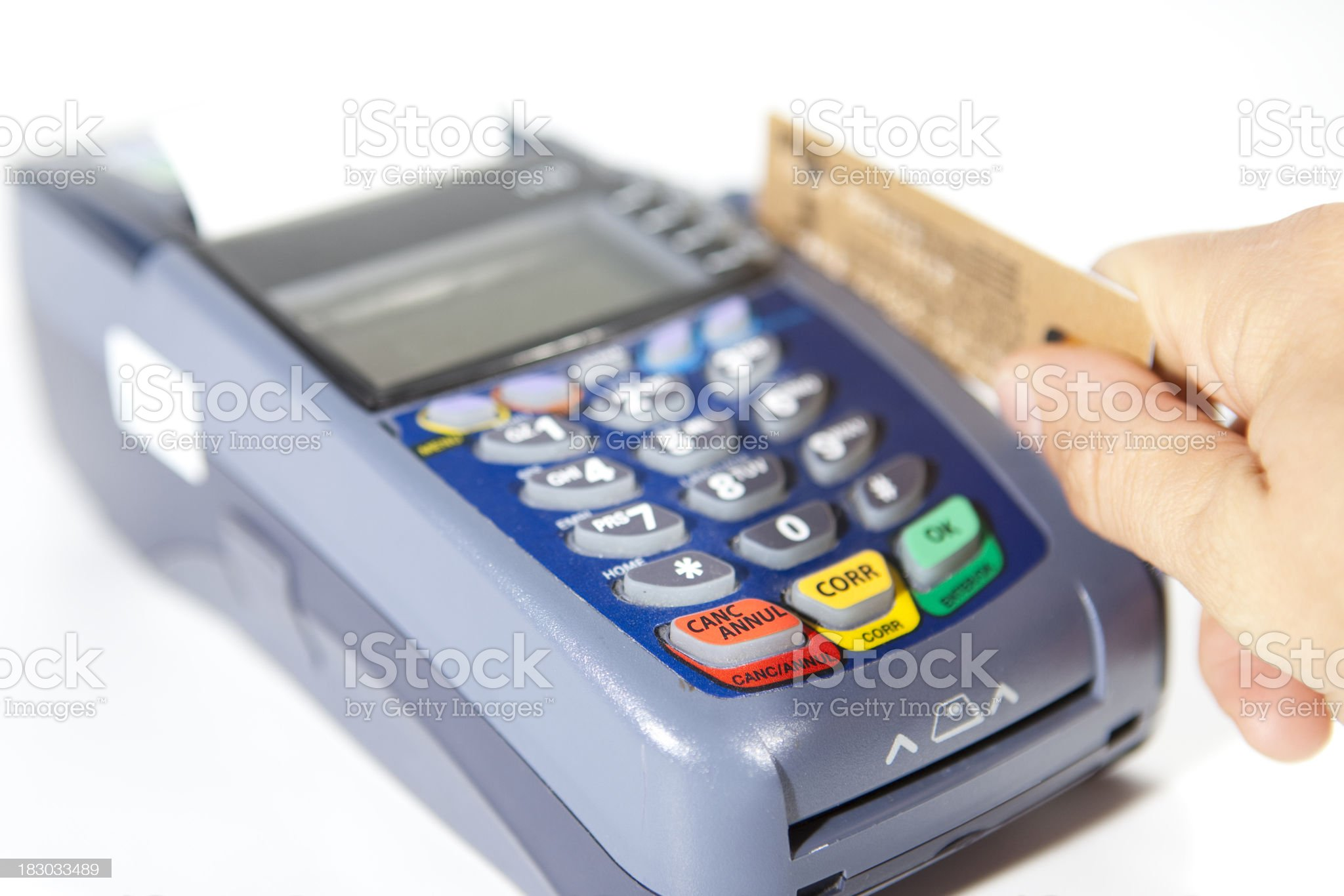 paying by credit card. royalty-free stock photo