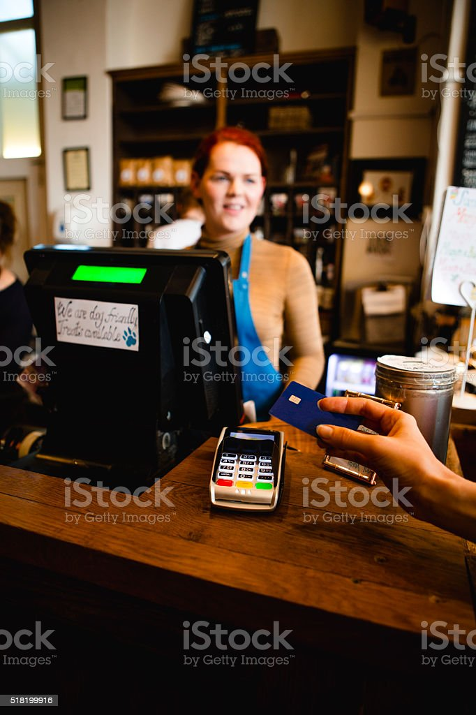 Paying By Credit Card stock photo