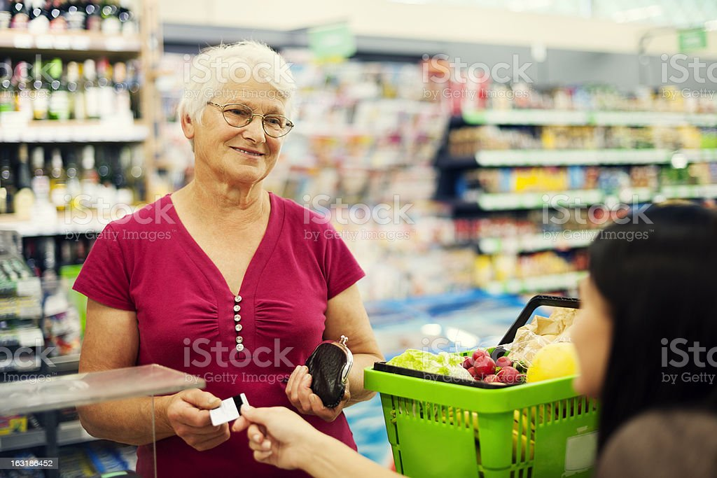 Paying credit card for purchases royalty-free stock photo