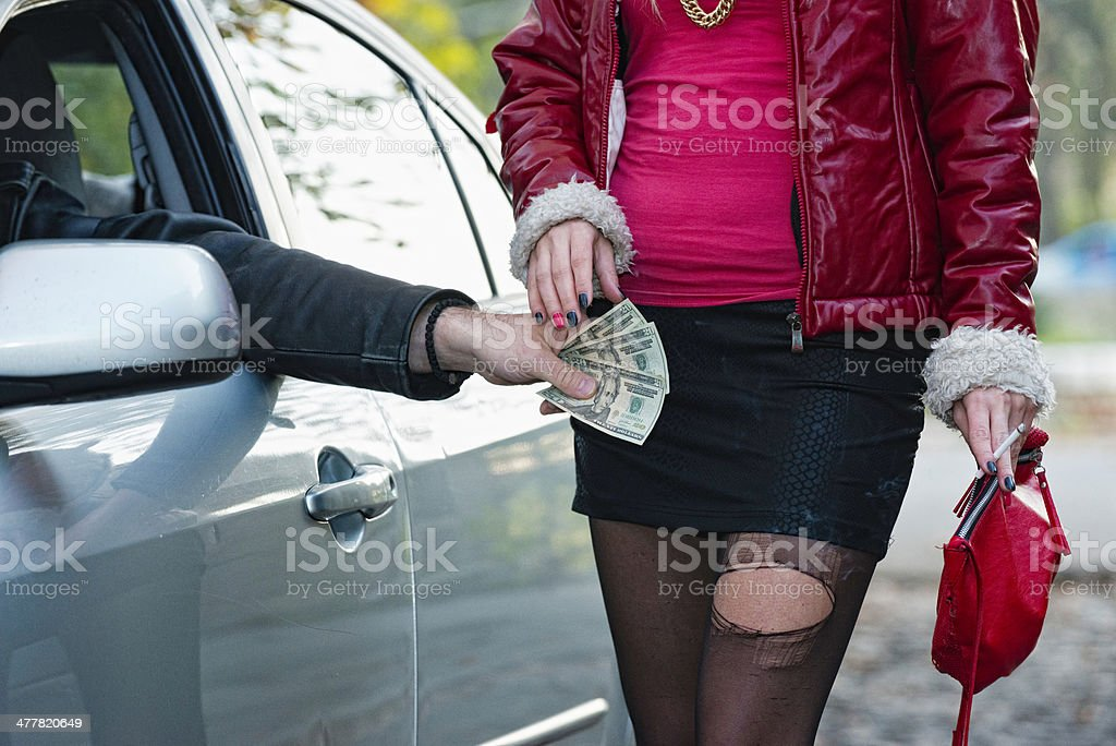 Paying for sex stock photo