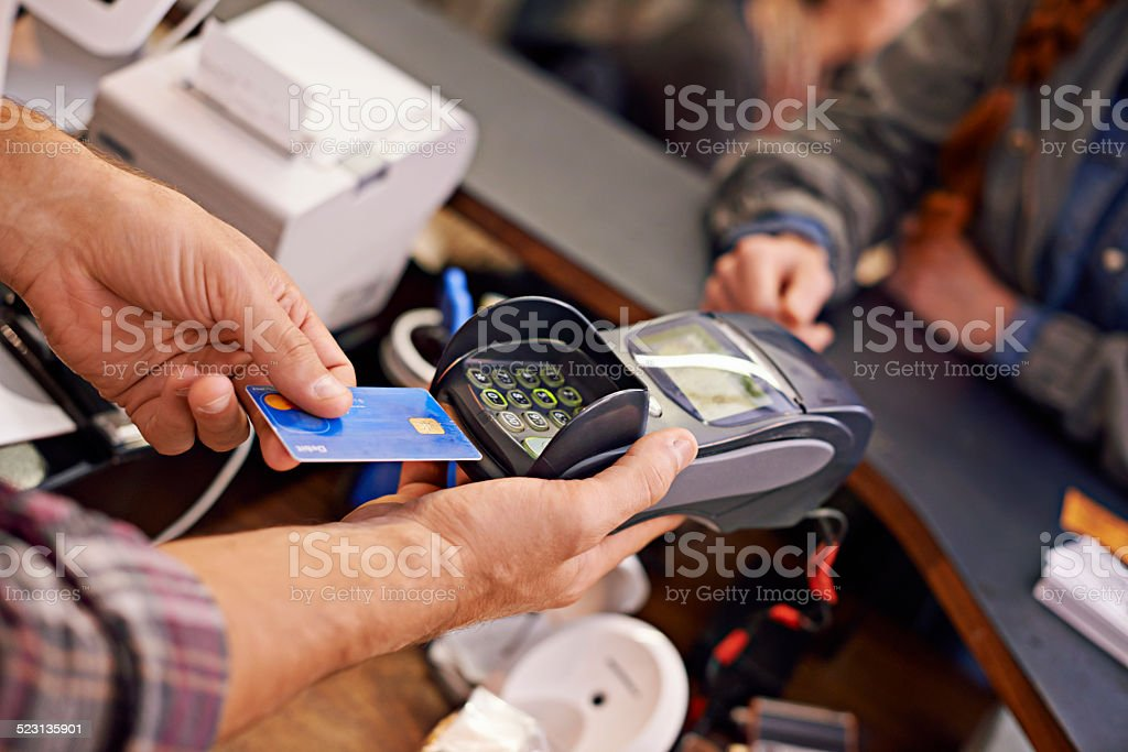 Paying has never been easier stock photo