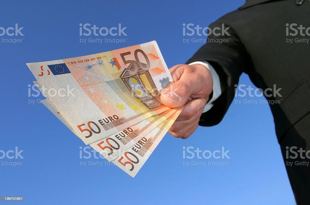 paying in euros stock photo