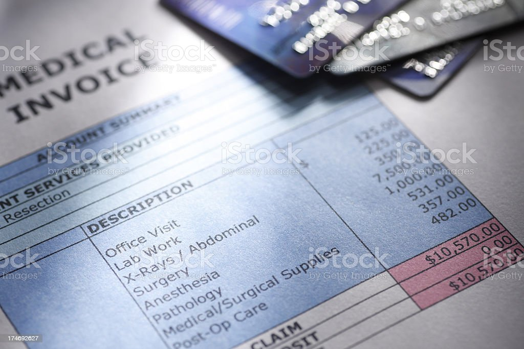 Paying Medical Bills stock photo