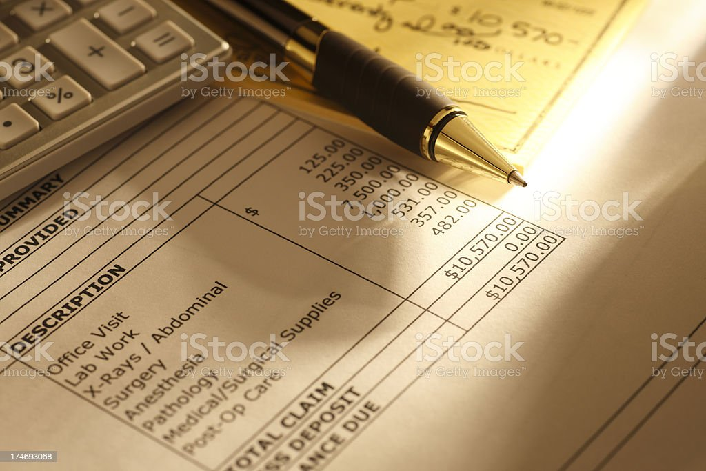 Paying Medical Bills royalty-free stock photo