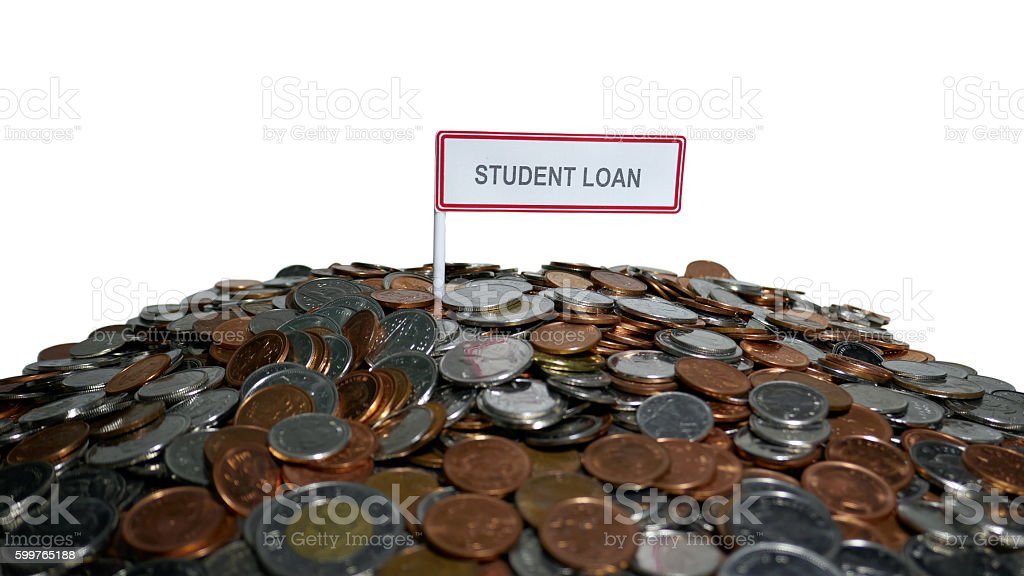 Paying off Student Loan Debt stock photo