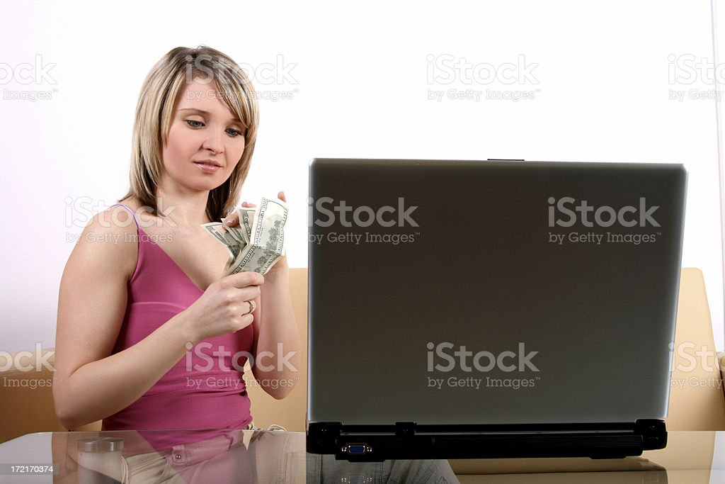Paying online... royalty-free stock photo