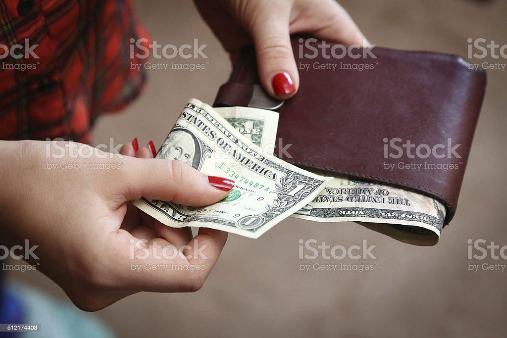 Paying stock photo