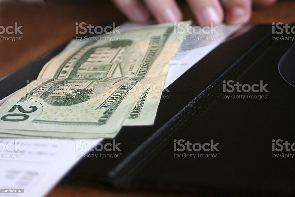Paying The Bill stock photo