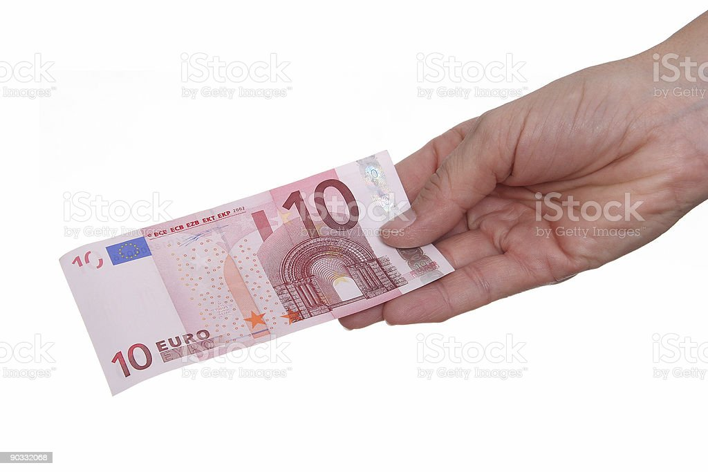 Paying with Euro 10 royalty-free stock photo