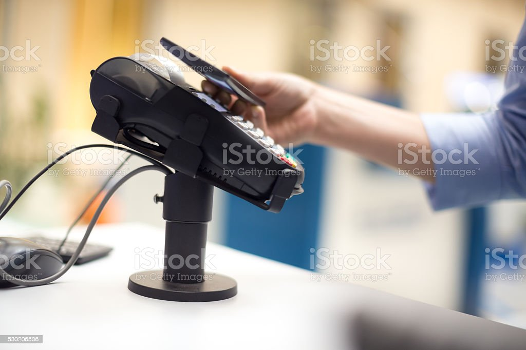 Paying withsmart phone stock photo