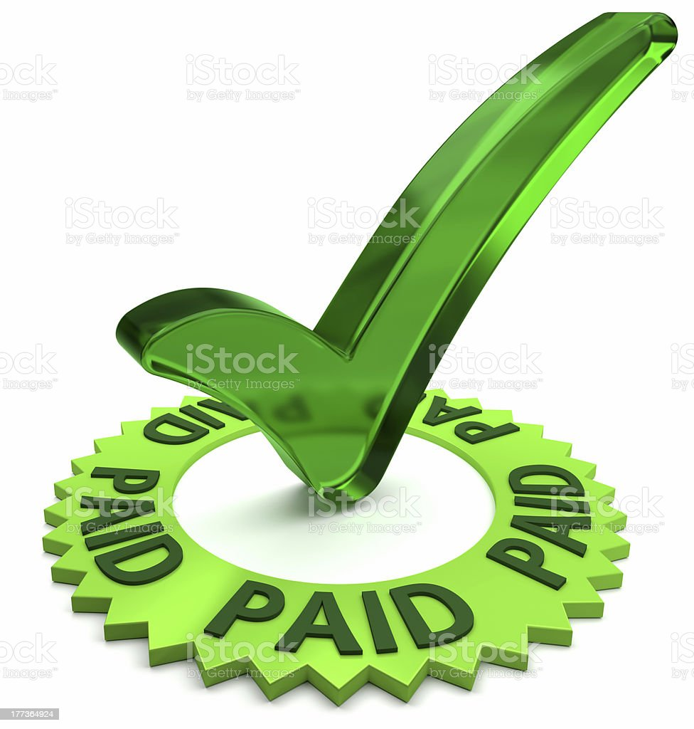 Payment Approved stock photo