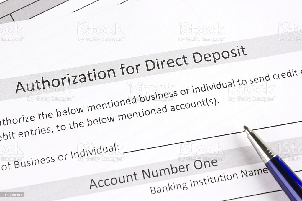 Payment authorization form royalty-free stock photo