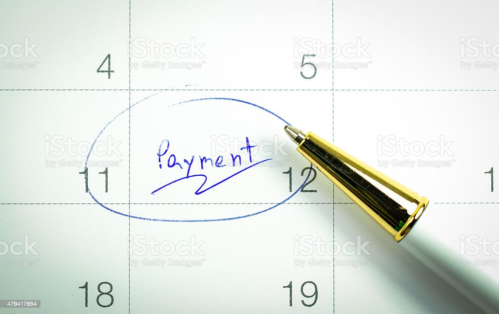 payment day stock photo