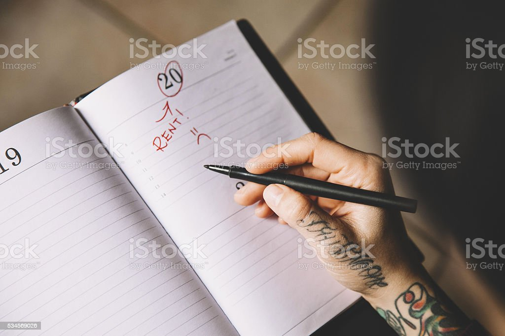Payment Deadline stock photo