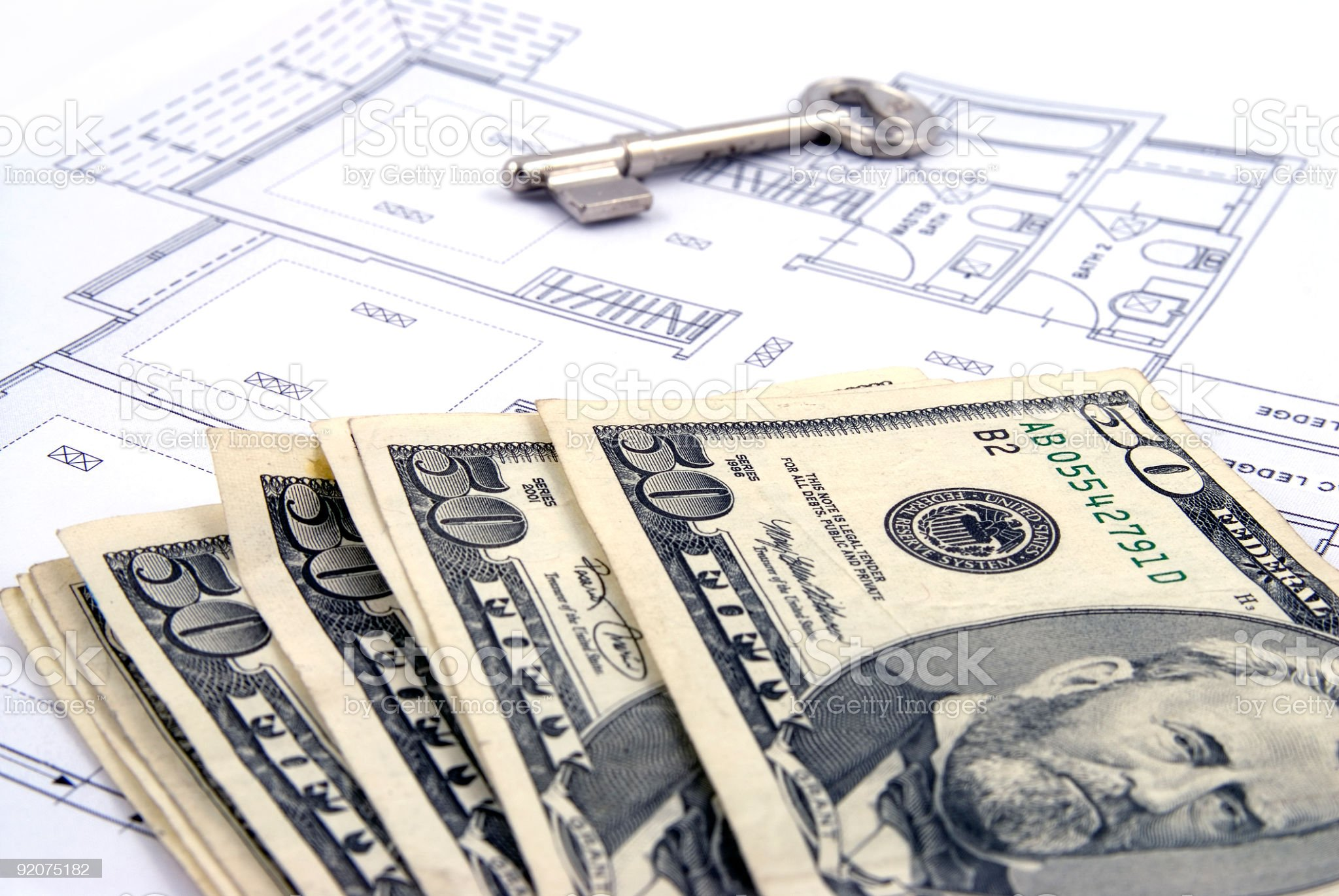 Payment for Housing Loan royalty-free stock photo