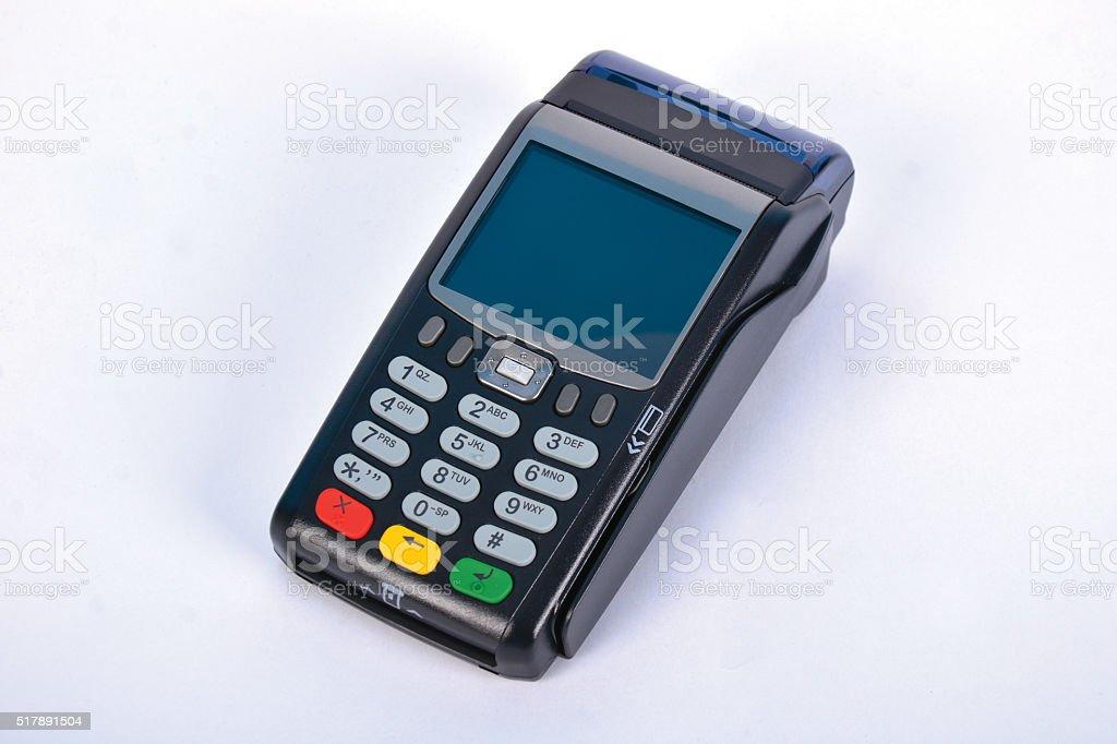 POS Payment GPRS Terminal stock photo